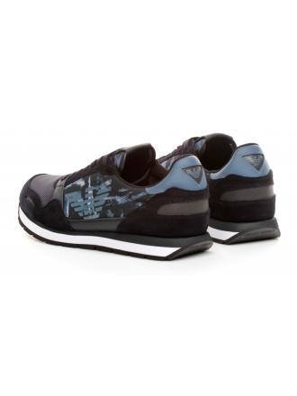 Sneakersy Męskie Emporio Armani Granatowe X4X215 XM046 D879 NAVY/DARK/NAVY