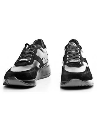 Sneakersy Męskie GUESS Czarne Marcus FM8MAR LEA12 BLACK
