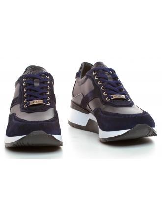 Sneakersy Męskie GUESS Granatowe MARCUS FM8MAR LEA12 BLUE