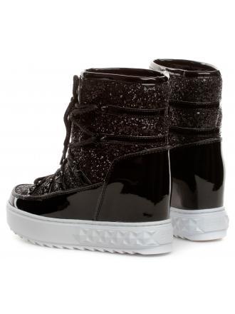 Śniegowce Damskie GUESS Czarne FREEZYN 22 FL8FRN FAM12 BLACK
