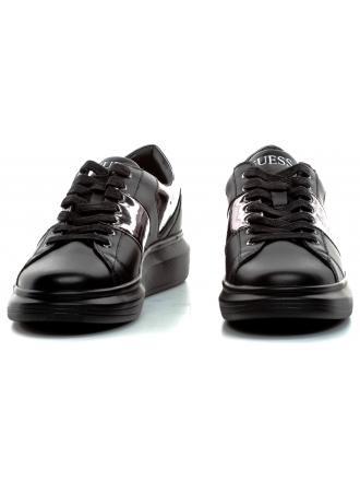 Sneakersy Męskie GUESS Czarne OPERA FM7OPE LEA12 SILVE