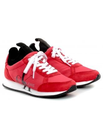 Sneakersy Damskie Calvin Klein Jeans Czerwone Josslyn B4R0825 Racing Red