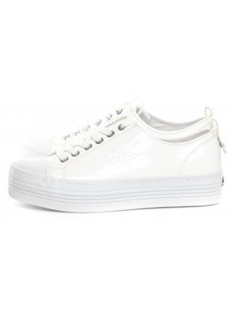 Sneakersy Damskie Calvin Klein Jeans Białe ZOLAH RE9796 WHITE