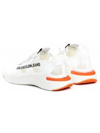Sneakersy Męskie Calvin Klein Jeans Białe Alban S0583 Bright White