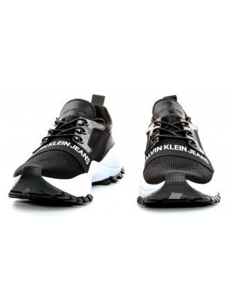 Sneakersy Męskie Calvin Klein Jeans Czarne Timmy S0588 Black