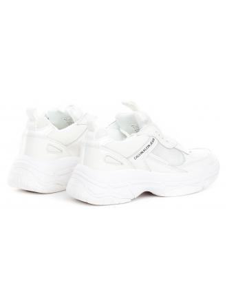 Sneakersy Damskie Calvin Klein Jeans Białe MAYA R7797 BRIGHT WHITE