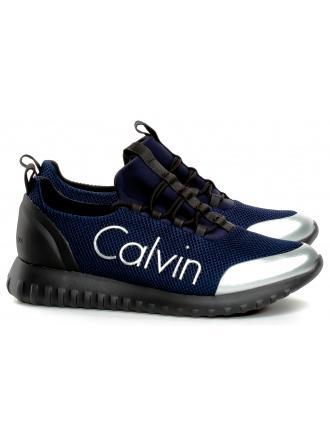 Sneakersy Męskie Calvin Klein Jeans Granatowe Ron S0506 Indigo/Silver