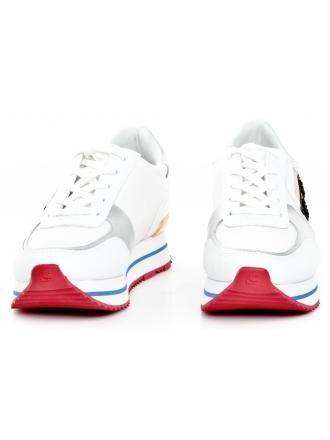 Sneakersy Damskie Karl Lagerfeld Białe KL61931 41M WHITE