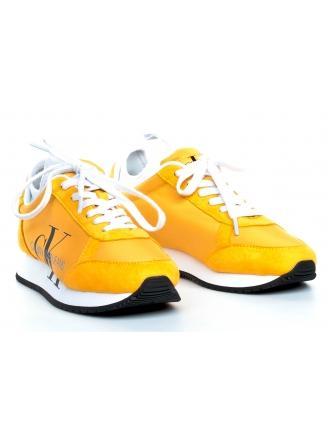 Sneakersy Damskie Calvin Klein Jeans Żółte JOSSLYN B4R0825 LEMON CHROME