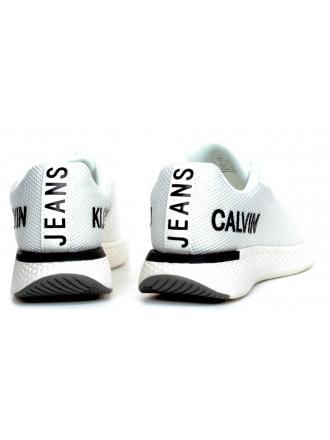 Sneakersy Męskie Calvin Klein Jeans Białe Amos S0584 Bright White