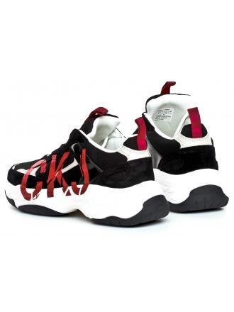 Sneakersy Męskie Calvin Klein Jeans Czarne Mizar B4S0651 Black/Stone