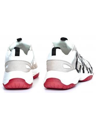 Sneakersy Męskie Calvin Klein Jeans Białe Mizar B4S0651 Bright White/Stone