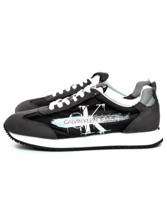 Sneakersy Męskie Calvin Klein Jeans Czarne Joam B4S0656 Black