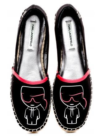 Espadryle Damskie Karl Lagerfeld Czarne Kamini KL80171900 Black