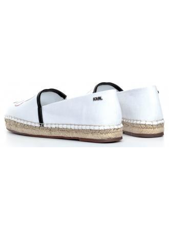 Espadryle Damskie Karl Lagerfeld Białe Kamini KL80171911 White