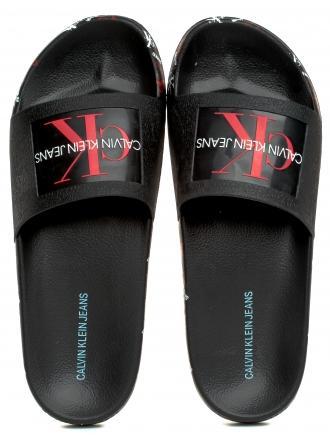 Klapki Damskie Calvin Klein Jeans Czarne Catilyn B4R0901 Black