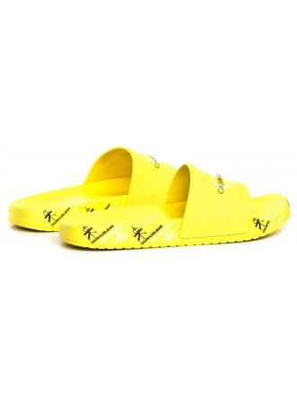 Klapki Damskie Calvin Klein Jeans Żółte Catilyn B4R0901 Blazing Yellow