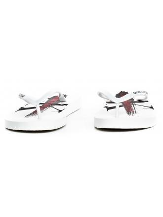 Klapki Damskie Calvin Klein Jeans Białe Dorinda B4R0905 White
