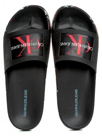 Klapki Męskie Calvin Klein Jeans Czarne Varen B4S0675 Black