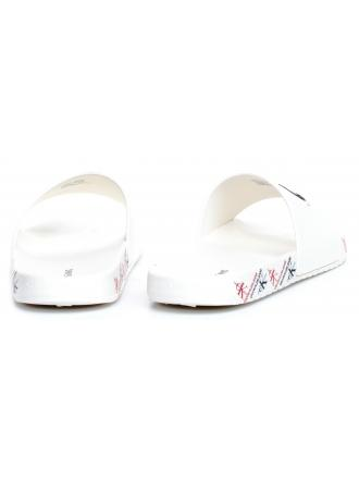 Klapki Męskie Calvin Klein Jeans Białe Varen B4S0675 Bright White
