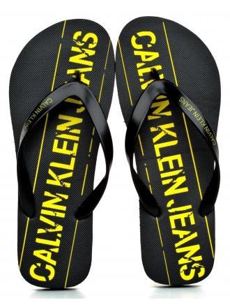 Klapki Męskie Calvin Klein Jeans Czarne Edmur B4S0677 Black