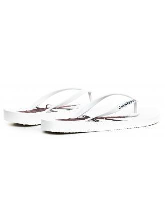 Klapki Męskie Calvin Klein Jeans Białe Edoardo B4S0678 White