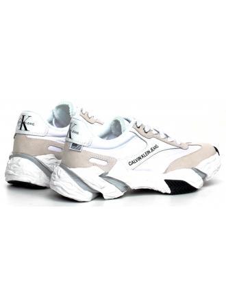 Sneakersy Damskie Calvin Klein Jeans Białe Sigma B4R0884 White