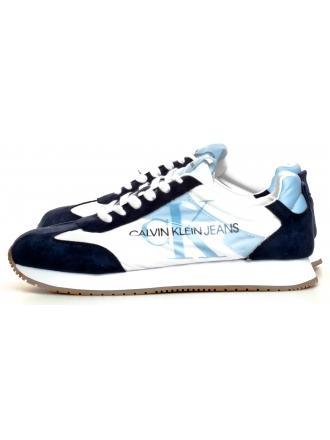 Sneakersy Męskie Calvin Klien Jeans Białe Jester B4S0655 White/Navy