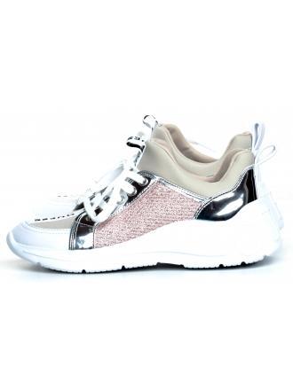 Sneakersy Damskie GUESS Beżowo-Różowe SPEERIT FL6SPT FAB12 BLUSH