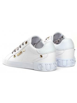 Sneakersy Damskie GUESS Białe PUXLY FL5PUX LEA12 WHITE