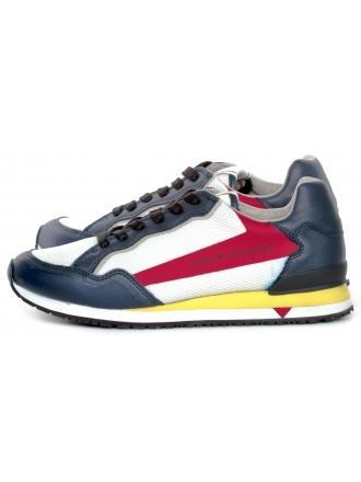 Sneakersy Męskie GUESS Białe GENOVA FM6GEN FAB12 WHIRE