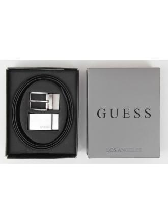 Pasek Dwustronny Guess Męski Czarny GIFT BOX GIF045 LEA35 BLA