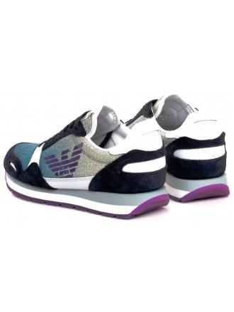 Sneakersy Damskie Emporio Armani Kolorowe X3X058 XM262 R724 ASTER/BLUE