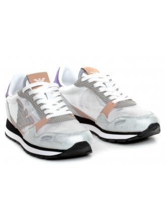 Sneakersy Damskie Emporio Armani Kolorowe X3X058 XM263 R728 White