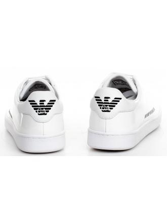 Sneakersy Damskie Emporio Armani Białe X3X061 XL814 A222 White