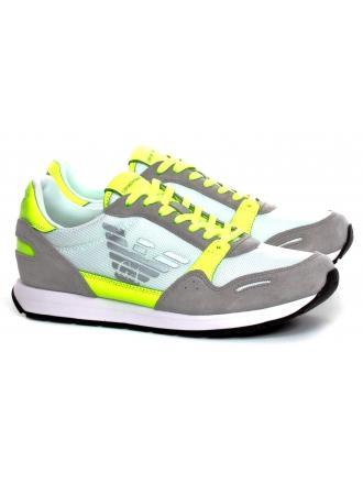 Sneakersy Męskie Emporio Armani Szare X4X215 XL198 P006 PLASTER