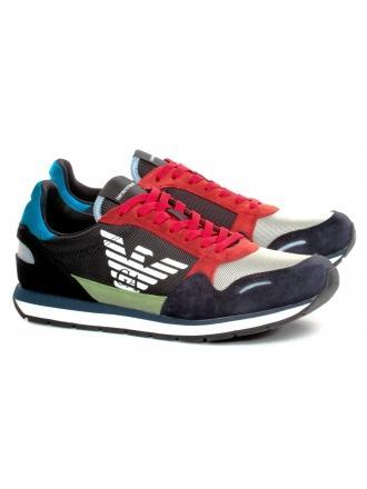 Sneakersy Męskie Emporio Armani Czarne X4X215 XL200 A678 UNIVERSE