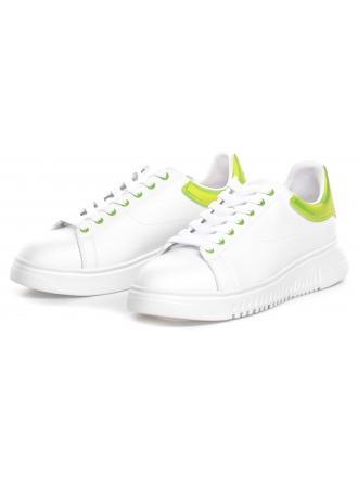 Sneakersy Męskie Emporio Armani Białe X4X264 XM228 A133 OPT WHITE