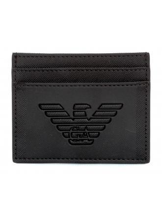 Card Holder Emporio Armani Czarny Y4R125 YFE6J 81072 NERO