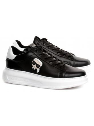 Sneakersy Męskie Karl Lagerfeld Czerń KL52530-000 Black Lthr