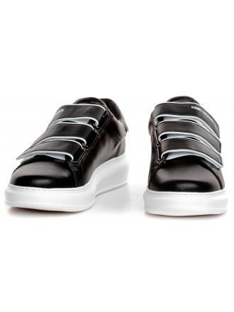Sneakersy Męskie Karl Lagerfeld Czarne KL52540-000 Black Lthr