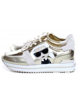 Sneakersy Damskie Karl Lagerfeld Gold KL61933-1GD Gold Textured Lthr