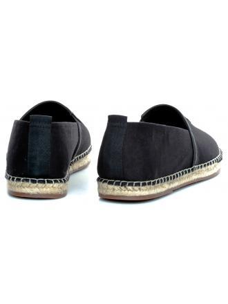 Espadryle Męskie Karl Lagerfeld Czerń KL70110-400 Black Ltfr&Textile