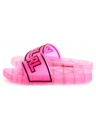 Klapki Damskie Karl Lagerfeld Róż Kondo KL80710 Hot Pink Rubber