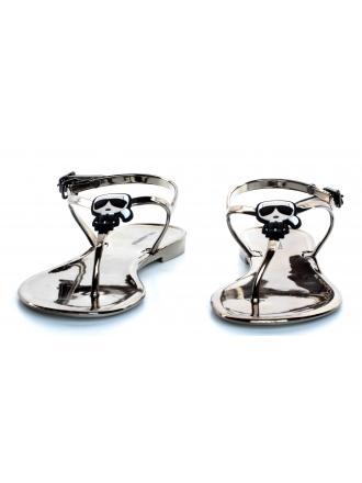 Sandały Damskie Karl Lagerfeld Metaliczne KL80088 VDM Dark Metal Rubber