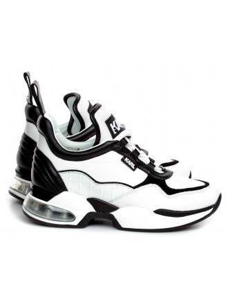 Sneakersy Damskie Karl Lagerfeld Biało-Czarne Ventura KL61747 010 White Lthr w/Black