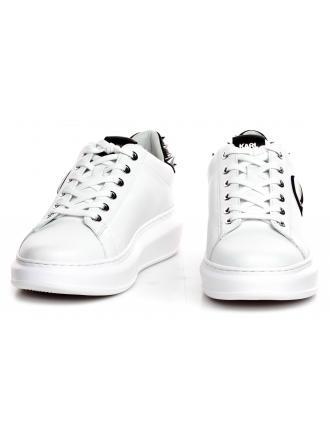 Sneakersy Damskie Karl Lagerfeld Biel Kapri KL62529 010 White Lthr w/Black