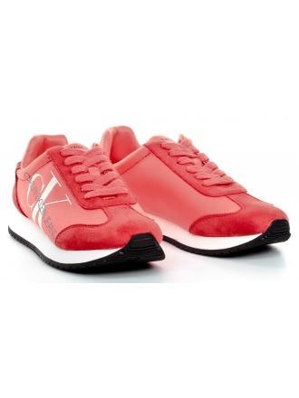 Sneakersy Damskie Calvin Klein Jeans Pomarańczowe/ Malinowe JODIS B4R1649 Island Punch