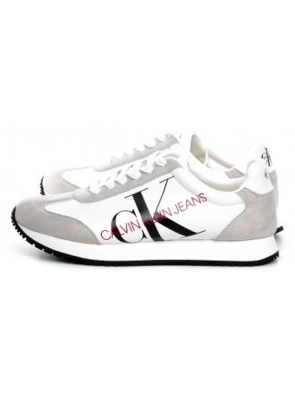 Sneakersy Damskie Calvin Klein Jeans Białe Jodis B4R1649 Brighe White