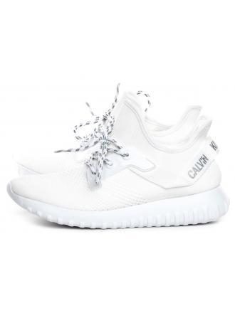Sneakersy Damskie Calvin Klein Jeans Białe RONETTE B4R1641 White/Silver